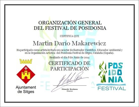 certificado Posidonia