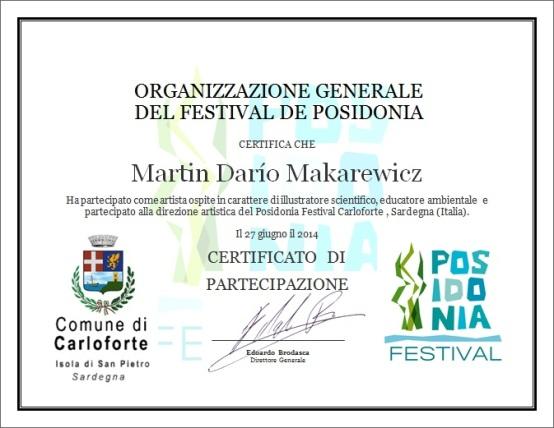 certificato Posidonia