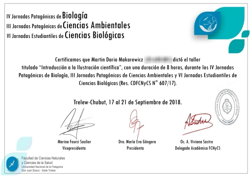 tallerer BIOPAT Universidad Nacional de la Patagonia San Juan Bosco-Martin Mak ilustracion